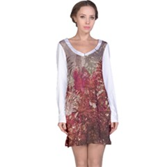 Floral Print Collage  Long Sleeve Nightdress