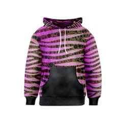 Hot Pink Black Tiger Pattern  Kid s Pullover Hoodie