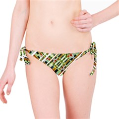 Colorful Tribal Geometric Print Bikini Bottom