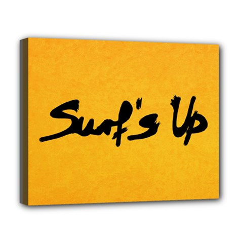 Surf s Up Deluxe Canvas 20  X 16  (framed)