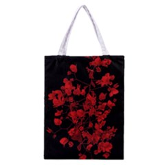 Dark Red Flower Classic Tote Bag