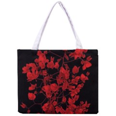 Dark Red Flower Tiny Tote Bag