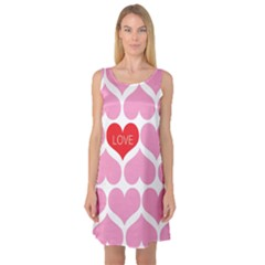One Love Sleeveless Satin Nightdress