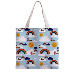 Be Happy Repeat Grocery Tote Bag