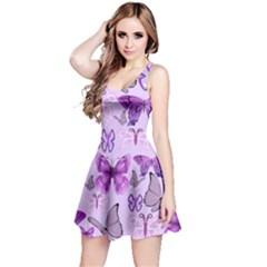 Purple Awareness Butterflies Sleeveless Dress
