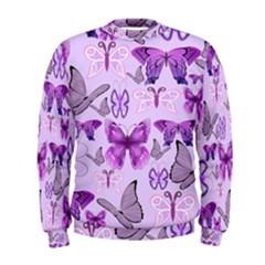Purple Awareness Butterflies Men s Sweatshirt