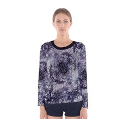 Nature Collage Print  Long Sleeve T-shirt (Women)
