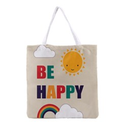 Be Happy Grocery Tote Bag