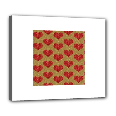 Sparkle Heart  Deluxe Canvas 24  X 20  (framed)