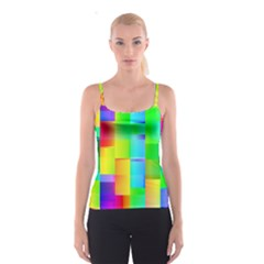 Colorful gradient shapes Spaghetti Strap Top