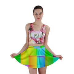 Colorful gradient shapes Mini Skirt