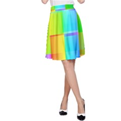Colorful Gradient Shapes A Line Skirt