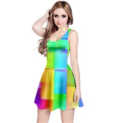 Colorful gradient shapes Sleeveless Dress