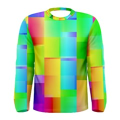 Colorful gradient shapes Men Long Sleeve T-shirt