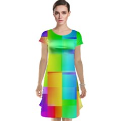 Colorful gradient shapes Cap Sleeve Nightdress