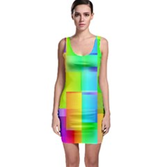 Colorful gradient shapes Bodycon Dress