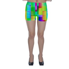 Colorful Gradient Shapes Skinny Shorts
