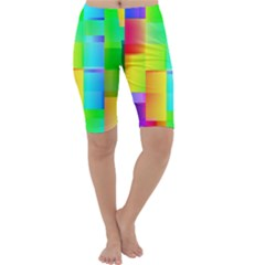 Colorful gradient shapes Cropped Leggings