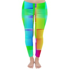 Colorful gradient shapes Winter Leggings