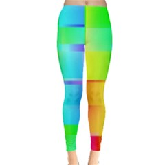 Colorful Gradient Shapes Leggings
