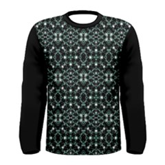 Futuristic Luxury Print Long Sleeve T Shirt (men)