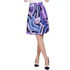 Metallic Weave A Line Skirt