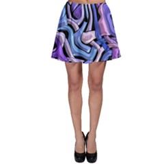 Metallic weave Skater Skirt