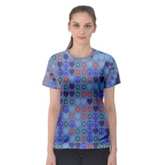 Peace And Lovewomen s Sport Mesh Tee