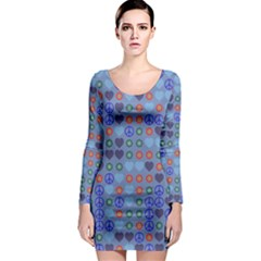 Peace And Lovelong Sleeve Bodycon Dress