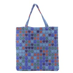 Peace and loveGrocery Tote Bag