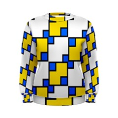 Yellow and blue squares pattern  Sweatshirt