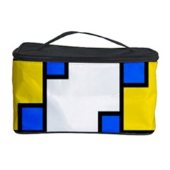 Yellow and blue squares pattern  Cosmetic Storage Case