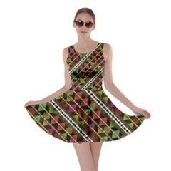 Colorful Tribal Print Skater Dress