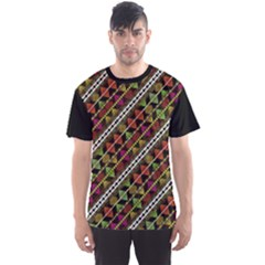 Colorful Tribal Print Men s Sport Mesh Tee