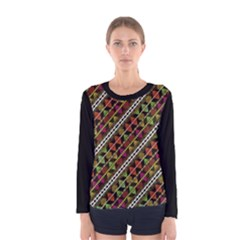 Colorful Tribal Print Long Sleeve T-shirt (Women)