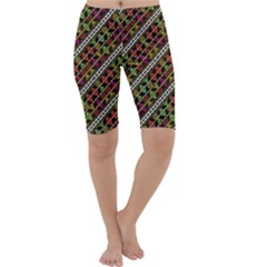 Colorful Tribal Print Cropped Leggings
