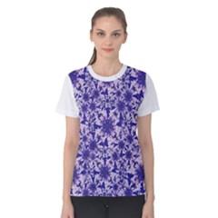 Decorative Floral Print Women s Cotton Tee
