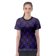 Luxury Pattern Print Women s Sport Mesh Tee