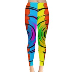 Rainbow Test Pattern Leggings
