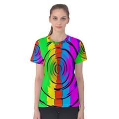 Rainbow Test Pattern Women s Cotton Tee