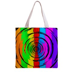 Rainbow Test Pattern Grocery Tote Bag