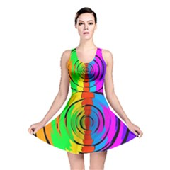 Rainbow Test Pattern Reversible Skater Dress