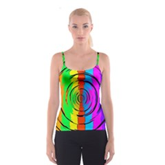 Rainbow Test Pattern Spaghetti Strap Top