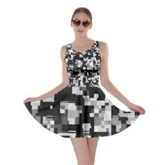 Background Noise In Black & White Skater Dress
