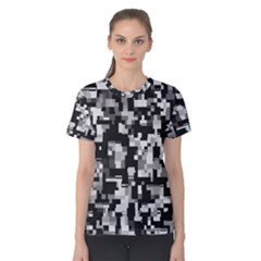 Background Noise In Black & White Women s Cotton Tee