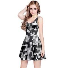 Background Noise In Black & White Reversible Sleeveless Dress
