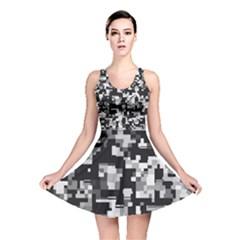 Background Noise In Black & White Reversible Skater Dress