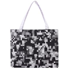 Background Noise In Black & White Tiny Tote Bag