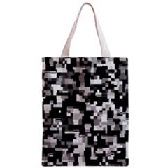 Background Noise In Black & White Classic Tote Bag