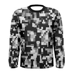 Background Noise In Black & White Long Sleeve T Shirt (men)